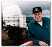 Bill Hobby and the Hobby-Eberly Telescope, Fort Davis, c. 1997. Courtesy of the Hobby family.